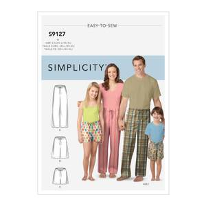 Bilde av Simplicity S9127 Pysjamasbukse til barn og voksen