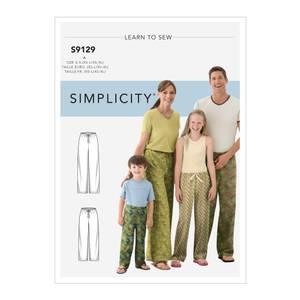 Bilde av Simplicity S9129 Pysjamasbukse til barn og voksen