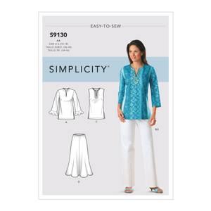 Bilde av Simplicity S9130 Topp, skjørt, bukse og skjerf