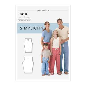 Bilde av Simplicity S9132 Pysjamasbukse til barn og voksen