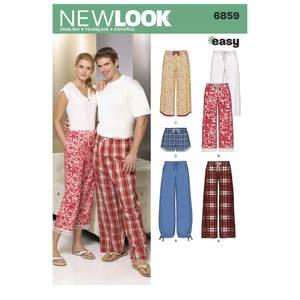 Bilde av New Look 6859 Pysjamasbukser og shorts