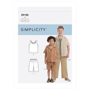 Bilde av Simplicity S9155 Skjorte, singlet og bukse til barn