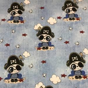 Bilde av Jersey digital - Pirat panda jeansblå