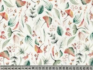 Bilde av Jersey digital akvarell blader - oransj og grønn