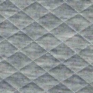 Bilde av Quiltet jersey melert grå