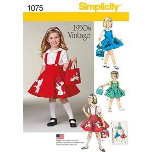 Bilde av Simplicity 1075 Vintagekjole til barn