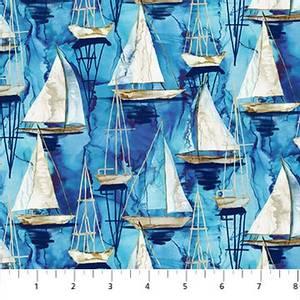 Bilde av Bomull - Sail Away, small boats