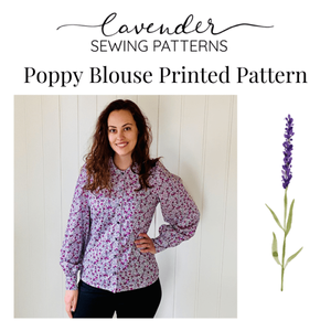 Bilde av Lavender Sewing Patterns - Poppy Blouse