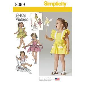 Bilde av Simplicity 8099 Vintage kjole
