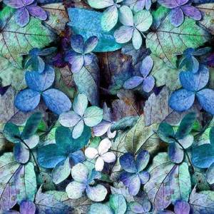 Bilde av Jersey - Høstblader blå