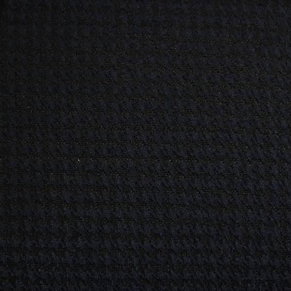 Strikket jacquard - hundetannsmønster blå