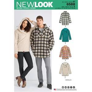 Bilde av New Look 6588 Anorakk med ulike varianter