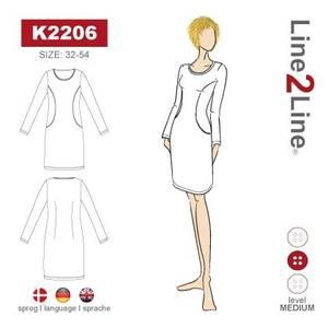 Bilde av Line2Line K2206 Kjole med prinsessesnitt og lommer