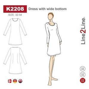 Bilde av Line2Line K2208 Kjole med vid bunn