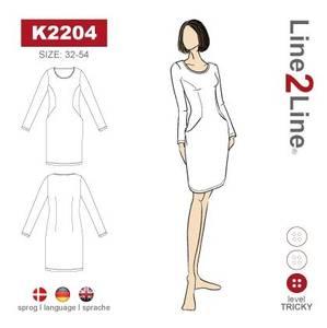 Bilde av Line2Line K2204 Kjole med prinsessesnitt og lommer