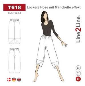 Bilde av Line2Line T618 Posebukse med cuff-effekt