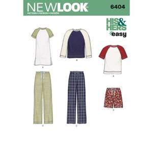 Bilde av New Look 6404 Raglan genser og pysj bukse herre