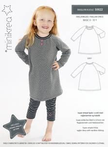 Bilde av Minikrea 50022 Raglan kjole
