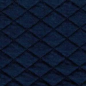 Bilde av Quiltet jersey mørk blå