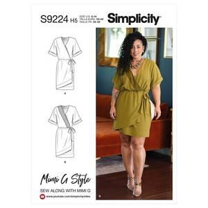 Bilde av Simplicity S9224 Kjole med knytting