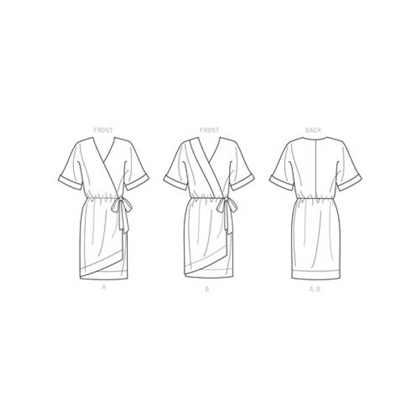 Simplicity S9224 Kjole med knytting