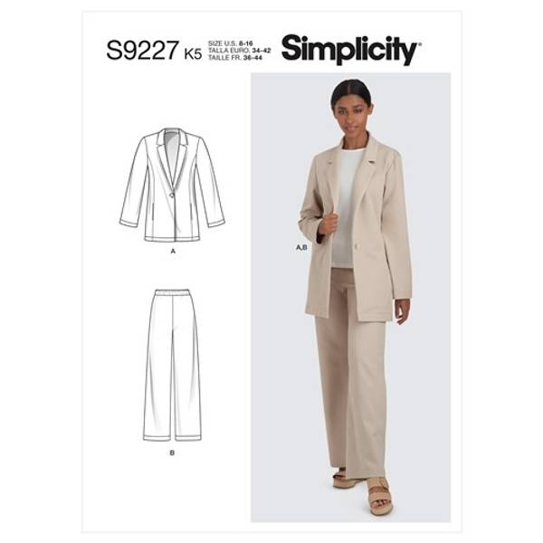 Simplicity S9227 Jakke og bukse