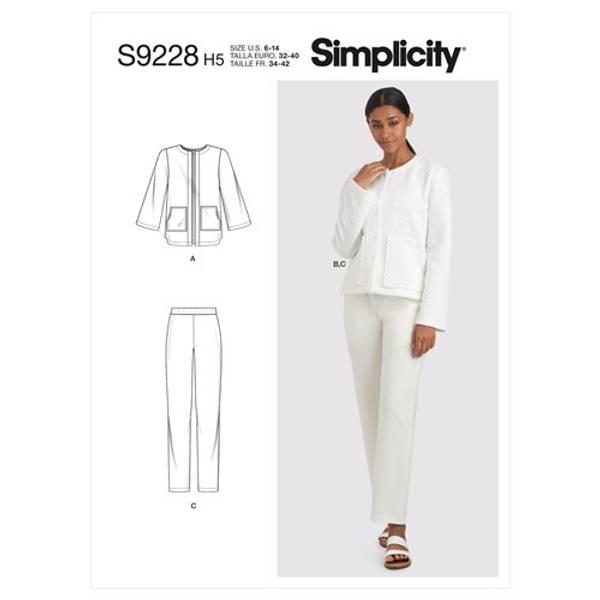 Simplicity S9228 Jakke og bukse
