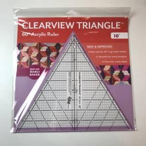 Bilde av Linjal Clearview triangle