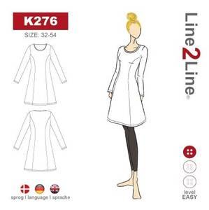 Bilde av Line2Line K276 Kjole med prinsessesnitt og vid bunn