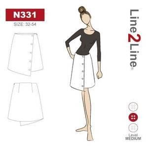 Bilde av Line2Line N331 Asymmetrisk skjørt