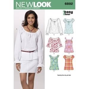 Bilde av New Look 6892 Bluse med mange varianter