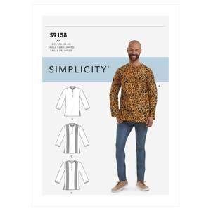 Bilde av Simplicity S9158 Skjorte til mann