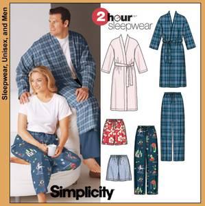 Bilde av Simplicity 5314 Morgenkåpe og pysjamasbukse