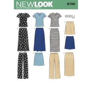 Bilde av New Look 6730 Skjørt, bukse og T - skjorte