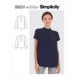 Bilde av Simplicity S9231 Bluse med folder