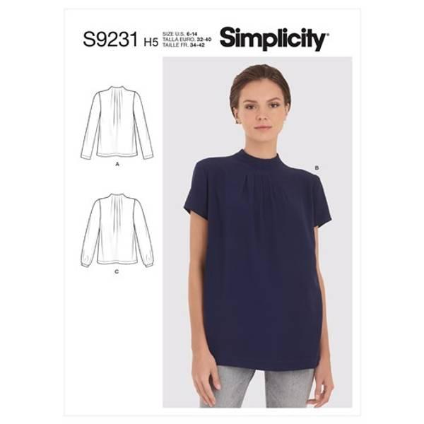 Simplicity S9231 Bluse med folder