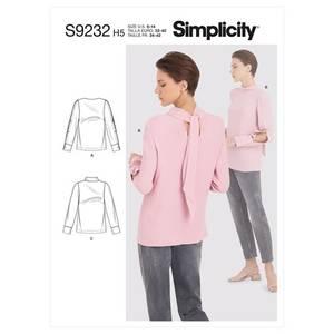 Bilde av Simplicity S9232 Bluse med knytting i nakken