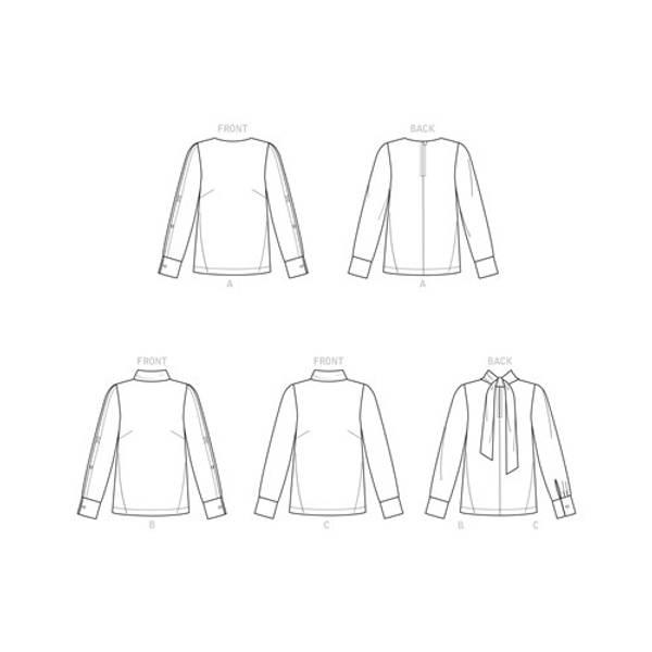 Simplicity S9232 Bluse med knytting i nakken