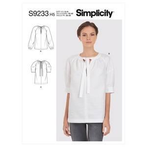 Bilde av Simplicity S9233 Bluse med knytting i halsen