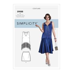 Bilde av Simplicity S9088 Kostyme flapper kjole