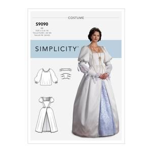 Bilde av Simplicity S9090 Kostyme renessanse