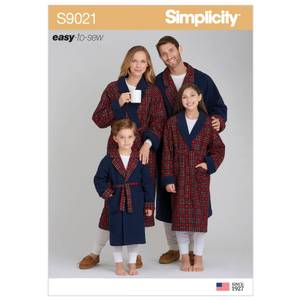 Bilde av Simplicity S9021 Slåbrok til barn og voksne