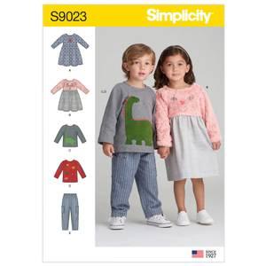 Bilde av Simplicity S9023 Kjole, topp og bukse