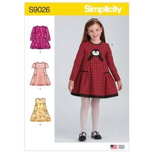 Bilde av Simplicity S9026 Kjole med lommer
