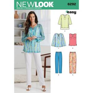 Bilde av New Look 6292 Tunika, topp og bukse