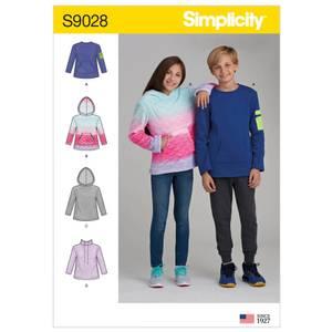 Bilde av Simplicity S9028 Hettegenser til gutt og jente