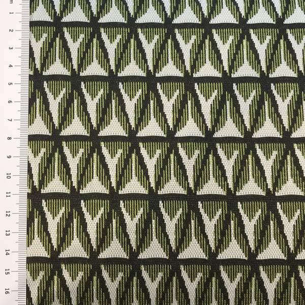 Jacquard grønn, sort og hvit