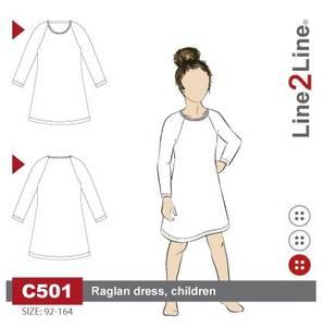 Bilde av Line2Line C501 T-skjorte kjole til barn