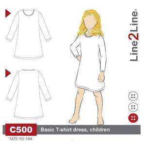 Bilde av Line2Line C500 T-skjorte kjole til barn