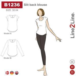 Bilde av Line2Line B1236 Bluse med splitt i nakken